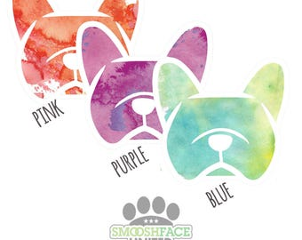 French bulldog sticker - Frenchie car decal - watercolor dog decal - #frenchielove