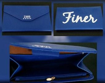 Zeta envelope clutch purse (faux leather)