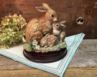 Vintage Homco Bunny Blessings/Masterpiece Porcelain/Homco 1990