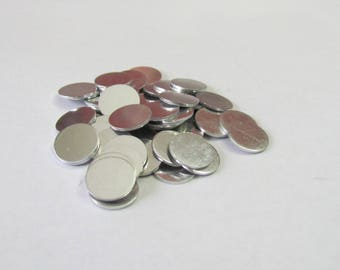 1/2- Round blanks - 18G Premium Aluminum - Tumbled blanks /Metal blanks /Hand Stamping Supplies//Jewelry Blanks