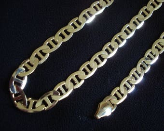 """MIRROR SHINE Men's 20"""" Gold Plated Chain & Bracelet by my DAD Father's Day Gift #343"""
