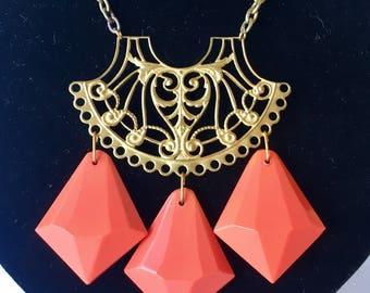 Art Deco drop necklace