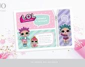 LOL Surprise Doll / Dolls Invitation / Birthday Invitation / L.O.L Party Design / DIY Modern Printable Party & Birthday Decor - Digital File