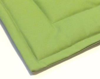 FREE SHIPPING Extra Small Organic Pet Mat- Washable- Spring Green