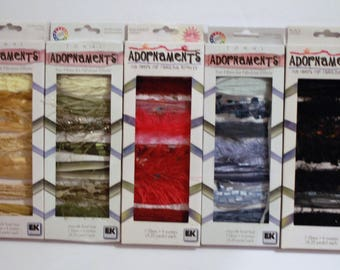 EK Success Tonal Adornaments Ribbons Lot of 5 Packages unused