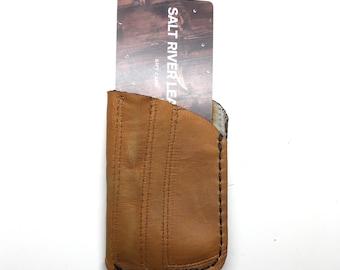 Repurposed Baseball Glove Card Sleeve Wallet