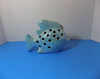 NEW Rare Ceramic Figurine Tropical Fish GC Naturals Potpourri Sachet Holder Ocean Nautical Home Decor Gift Summer