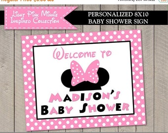 SALE PERSONALIZED Light Pink Mouse Printable 8x10 Baby Shower Welcome Sign / Light Pink Mouse Collection / Item #1847
