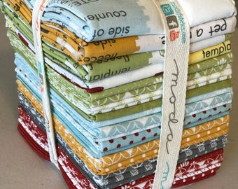 Flats by Angela Yosten for Moda Fat Quarter Bundle 24 Fat Quarters plus all Doll Panels OOP VHTF