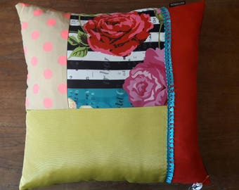 CUSHION square PATCHWORK fabrics and trimmings