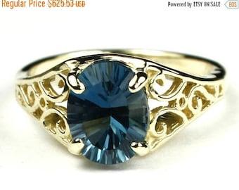 On Sale, 30%Off, London Blue Topaz, 18KY Gold Ring, R005