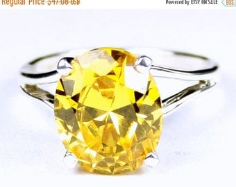 On Sale, 30% Off, Golden Yellow CZ, 925 Sterling Silver Ring, SR132