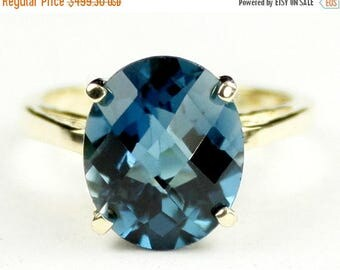 On Sale, 30% Off, London Blue Topaz, 10Ky Gold Ring, R055