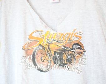 vintage harley davidson sturgis gray black hills rally t shirt tank top
