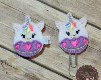 Felt Hair or Planner Clips - Easter, Unicorn