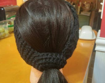 Ponytail ear warmer headband