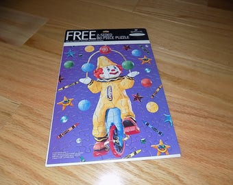 Clown Crayon Hallmark Puzzle Puzzles Vintage Jigsaw Puzzles Day Care Childrens Toy Dolls 2 sided