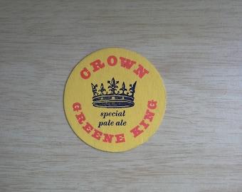 Crown Greene King special pale ale beer mat