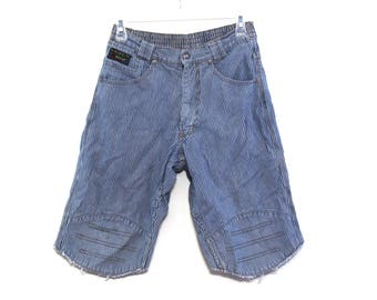 Vintage 90s Levis jean shorts cut offs pinstriped