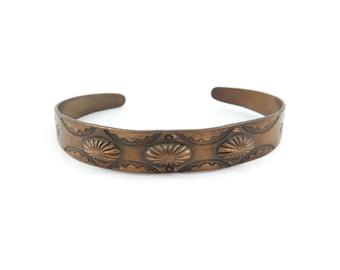 Vintage Southwestern Cuff Bracelet, Copper
