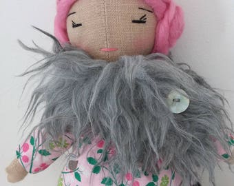 Linen, woolen hair doll
