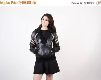 Final SALE - 70s Genuine Leather Jacket - Rare Pullover Jacket  - Vintage Leather Jacket - 2253