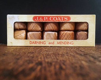 J & P Coats Darning and Mending Thread - 2-Ply Cotton