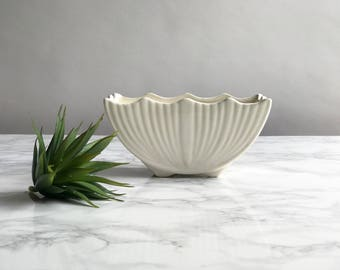 White Ceramic Planter / White Pottery Planter