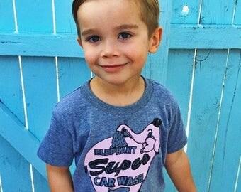 Seattle Elephant toddler shirt. American apparel toddler shirt. Hand drawn. Vintage sign t-shirt.Seattle love.