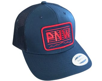 Youth PNW hat. I love the Northwest trucker hat. Curved brim.