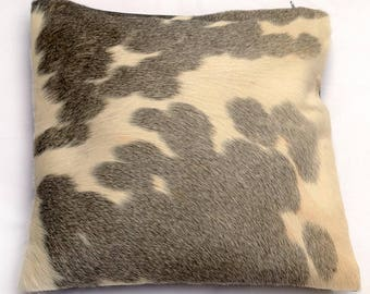 Natural Cowhide Luxurious Patchwork Hairon Cushion/pillow Cover (15''x 15'')a173