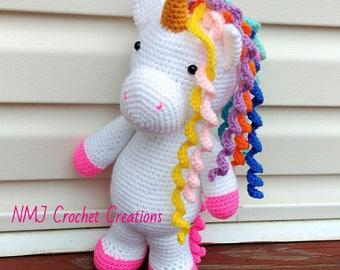 Unicorn, Crochet Unicorn doll, crochet unicorn toy, unicorn toy, Unicorn Stuffie, Stuffed animal,