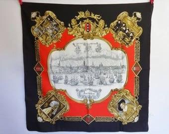 "Vintage Amsterdam scarf  75cm x 76cm / 29.5"" x 29.9"""