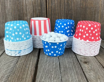 Dr Seuss Paper Snack Cups - Set of 48 - Polka Dot and Stripe Candy Cups - Ice Cream Cups - Paper Nut Cup - Same Day Shipping