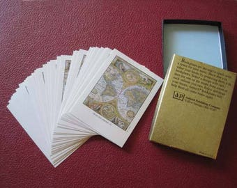 Old World Map Bookplates with box - Antioch Pulblishing