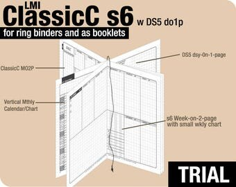 Trial [Field Notes ClassicC S6 with DS5 do1p] November to December 2017 - Filofax Inserts Refills Printable Binder Planner Midori.
