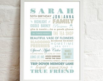 Personalised Printable Wall Art . . . Perfect For Any Special Occasion . Modern Typography . Print At Home . Friendship Gift