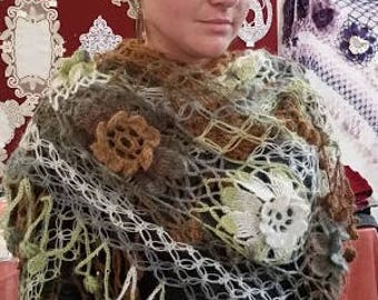wool shawl is crochet