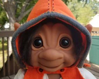 "Handmade Pixie Hood for Dam Troll 12"" Iggy & 17"" 806 - Orange - Doll Not Included"