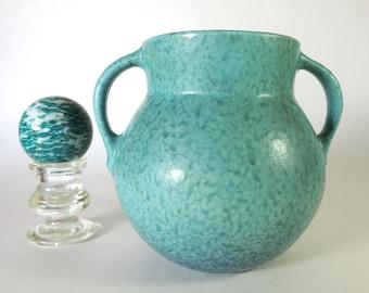 Roseville Pottery Tourmaline Vase Shape A517 Vintage 1933 Turquoise Matte Glaze 6 Inch Vase