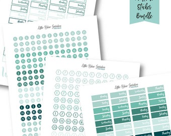 Date Cover Ups Planner PDF Stickers printable, Undated Planner Sticker Kit, Number Stickers Bundle, Monthly Functional Planning Printables