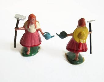 Marx Toys Vintage Toy Lot, Polly Put The Kettle On Fairykin, Nursery Rhyme Character, Mini Cake Toppers