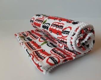 Receiving Blanket, Baby Receiving Blanket, London Red Buses Flannel Baby Blanket, Crib Blanket, Swaddling Blanket