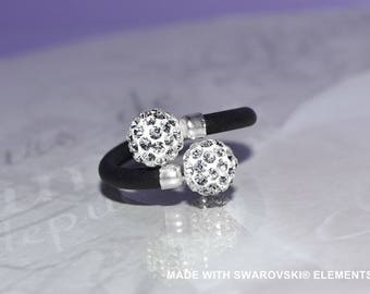 Ring Swarovski crystal balls
