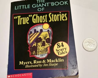Vintage GHOST STORIES Book 90s Halloween Haunted Scary Story Pocketbook Creepy Campfire Tales Little Big Book Young Readers Storybook Gift