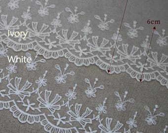 14yds Embroidery Cotton Broderie Anglaise tulle Eyelet Lace Trim 10.5cm YH1515 laceking2013
