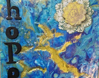 Hope 6x6 gallery canvas