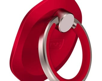 Red Rotation Cell Phone Ring Stand Holder Grip kickstand Universal Smartphone