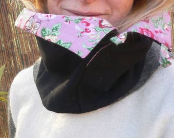 snood, cowl scarf in wool and cashmere