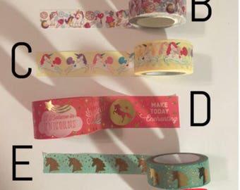 Washi Tape Sample: Unicorn